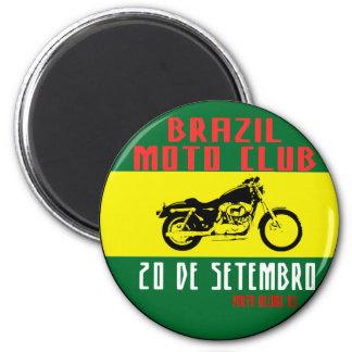 Brazil Motorrad club Runder Magnet 5,7 Cm