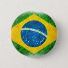 Brazilian_Flag_Pencil_Painting Runder Button 5,7 Cm
