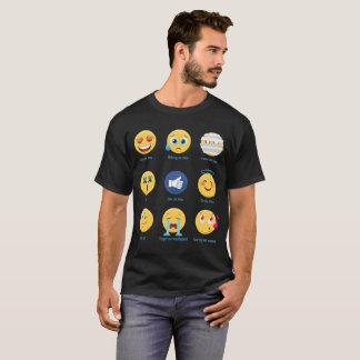 Brazillian Jiu-jitsu 9 SchattenBJJ Emoji Emoticons T-Shirt