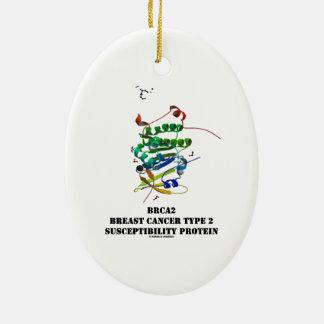 BRCA2 Brustkrebs-Art - Protein der Anfälligkeits-2 Ovales Keramik Ornament