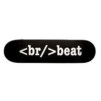 breakbeat HTML Bedrucktes Skateboard