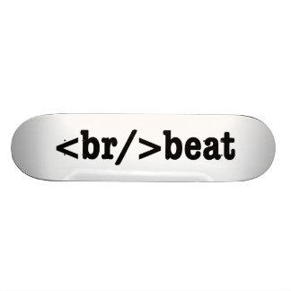 breakbeat HTML Skateboard Brett