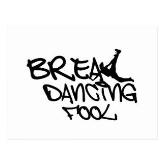 Breakdance-Dummkopf Postkarte