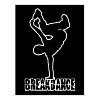 Breakdance kundenspezifische Farbpostkarte Postkarte