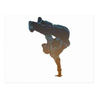 Breakdancer Postkarte