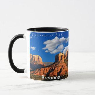 Breanna auf Kathedralen-Felsen und Gericht-Tasse Tasse