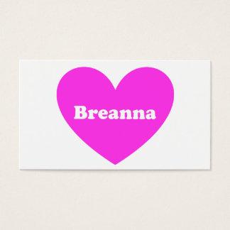 Breanna Visitenkarte