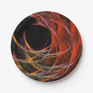 Brechen der Kreis-abstrakten Kunst Pappteller