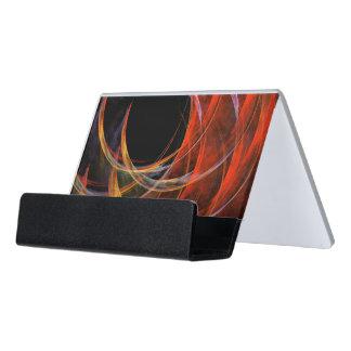 Brechen der Kreis-abstrakten Kunst Schreibtisch-Visitenkartenhalter