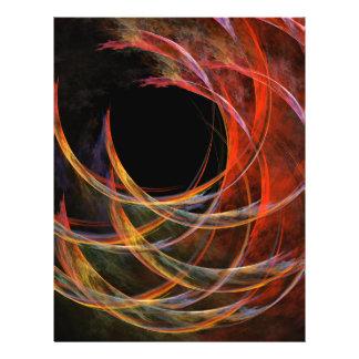 Brechen des Kreis-abstrakten Kunst-Flyers 21,6 X 27,9 Cm Flyer