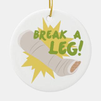 Brechen Sie ein Bein Keramik Ornament