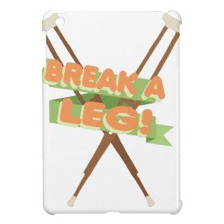 Brechen Sie ein Bein-Krücken iPad Mini Hülle