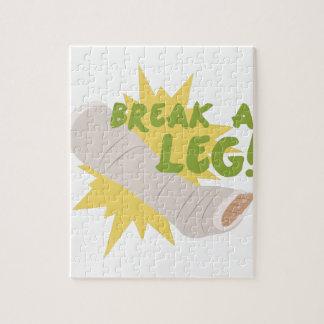 Brechen Sie ein Bein Puzzle