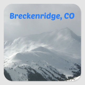 Breckenridge, Co Quadratischer Aufkleber