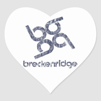 Breckenridge Herz-Aufkleber