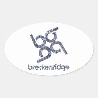Breckenridge Ovaler Aufkleber