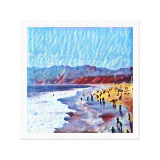 Breezy träumerischer Strand (Leinwand) Leinwanddruck