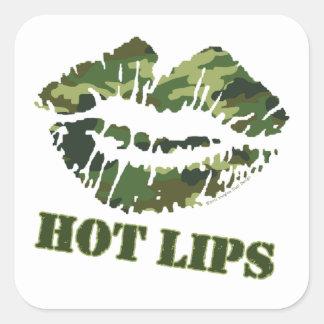BREI heiße Lippen Quadratischer Aufkleber