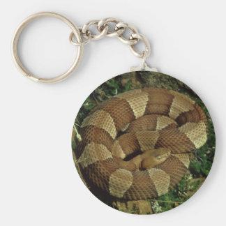 breit-mit einem Band versehenes copperhead Schlüsselanhänger