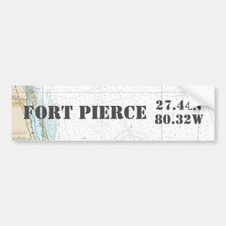 Breite-Länge-Navigations-Diagramm Fort Pierce FL Autoaufkleber