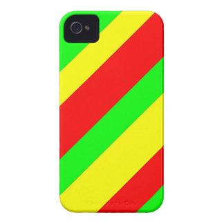 Breite Rasta Streifen iPhone 4 Case-Mate Hülle