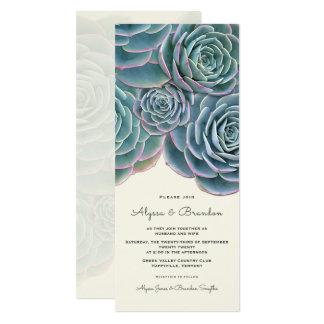 Breite saftige Grenzhohe Hochzeits-Einladung Karte