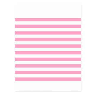 Breite Streifen - Weiß und Gartennelken-Rosa Postkarten