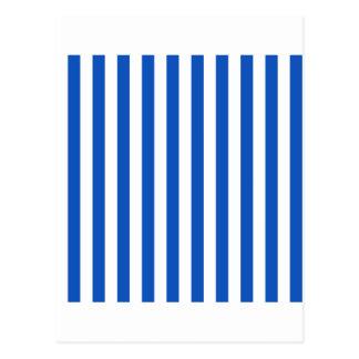 Breite Streifen - Weiß und Saphir Postkarte