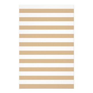 Breite Streifen - Weiß und TAN Individuelles Büropapier