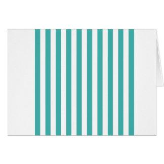 Breite Streifen - Weiß und Verdigris Karte