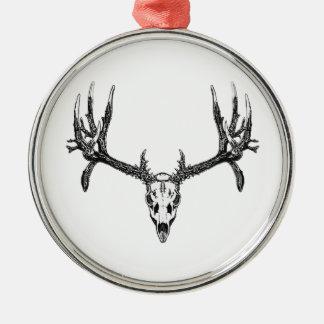 Breiter Dollarschädel Silbernes Ornament