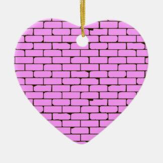 Breiter rosa Wand-Hintergrund Keramik Herz-Ornament