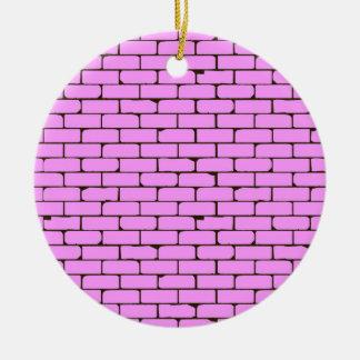 Breiter rosa Wand-Hintergrund Rundes Keramik Ornament