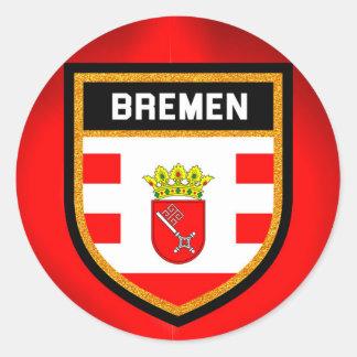 Bremen-Flagge Runder Aufkleber