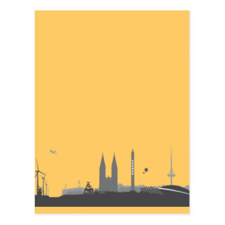 Bremen Skyline Postkarte