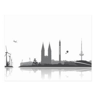 Bremen Skyline - Postkarte / Grußkarte