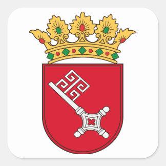 Bremer Wappen Quadrat-Aufkleber