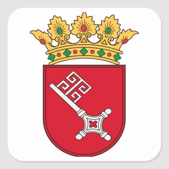 Bremer Wappen Quadratischer Aufkleber