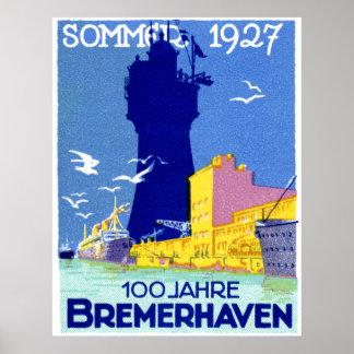 Bremerhaven 1927 Deutschland Poster