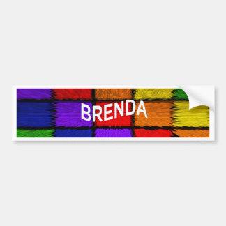 BRENDA (weibliche Namen) Autoaufkleber