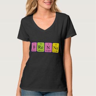 Brenna Namen-Shirt periodischer Tabelle T-Shirt