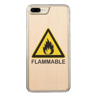 Brennbares Gefahrenzeichen Carved iPhone 8 Plus/7 Plus Hülle
