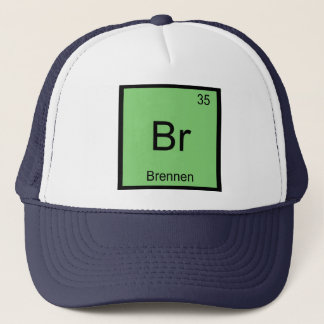Brennen Namenschemie-Element-Periodensystem Truckerkappe