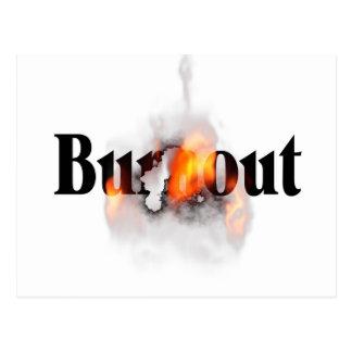 Brennen Sie aus Postkarte