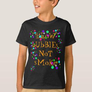 Brennen Sie Blasen-Schwarz-Shirt durch T-Shirt