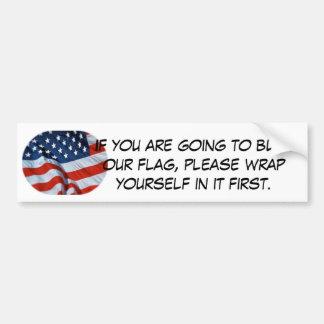brennen Sie die Flagge?! wickeln Sie sich in ihr Autoaufkleber