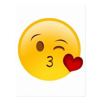 Brennen Sie einen Kuss emoji Aufkleber durch Postkarten