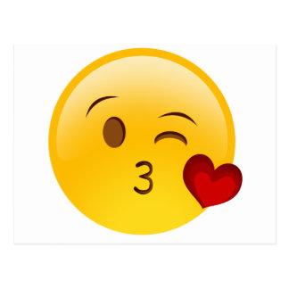 Herz Emoji Postkarten | Zazzle.de