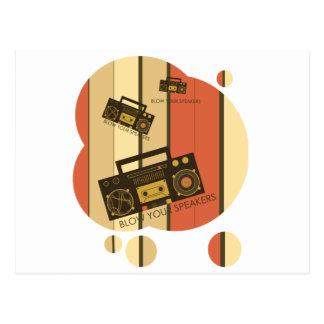 Brennen Sie Ihre Lautsprecher - fantastisches Postkarte