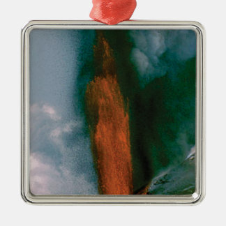brennen Sie Ihre Spitzenlava durch Silbernes Ornament